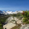 Views over the Little Lakes Basin en route to Mono Pass, Inyo National Forest, California