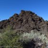 A pile of lava at the Fleener Chimneys Trail in Lava Beds National Park, California