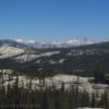 Views of the Sierras from Tuolumne Meadows in Yosemite National Park, California