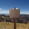 Sign marking Mt. Walter, the second highest point in New New Mexico.