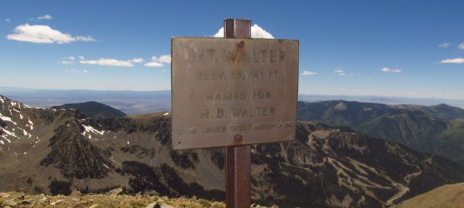 Mount Walter – the Second Highest Point in New Mexico!