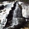 Williams Falls, still bounded by snow, Carson National Forest, New Mexico