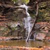 The the third Barnes Falls in Barnes Gully, Onanda Park in the Finger Lakes of New York