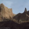 Eroded badland formations at Chimney Bluffs State Park, New York