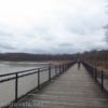 Biking the boardwalk at Turning Point Park along the Genesee Riverway Trail in Rochester, New York