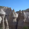 Classic Tent Rock formations at Kasha-Katuwe Tent Rocks National Monument, New Mexico