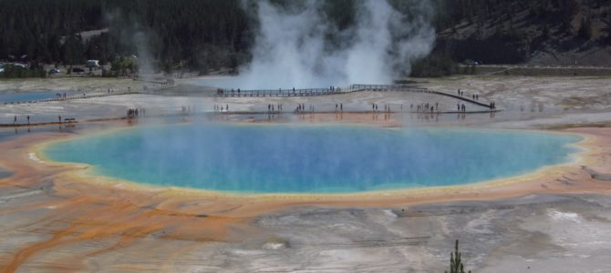 The Grand Prismatic Spring Overlook & Fairy Falls!