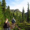 Hiking the Cliff Lake Trail toward Chicago Peak and Milwaukee Pass in the Cabinet Mountains Wilderness of Montana