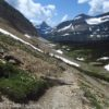 Looking down on Preston Park and Reynolds Mountain from the Siyeh Pass Trail, Glacier National Park, Montana
