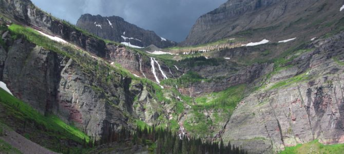 Spectacular Views from Lake Josephine and Grinnell Lake