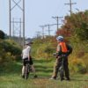 Cyclists on the Genesee Valley Greenway between Fillmore and Houghton, New York