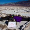 Hanging out at the Official Lowest Point in North America, Badwater Salt Flats, Death Valley National Park, California