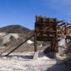 Old ore bins at the Saratoga Mine, Death Valley National Park, California