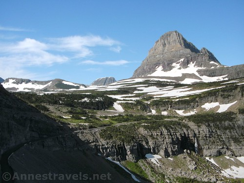 Logan Pass from the Highline Trail, Glacier National Park, Montana